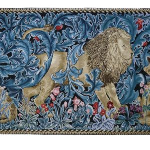 Wandkleed - Lion and the Forest - William Morris - 139cm x 87cm