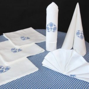 Servetten - 40 x 40 cm - Hart - Blauw - 6 stuks