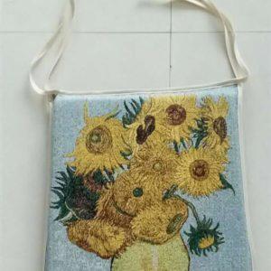 Stoelkussen -Art - Sunflower - van Gogh - per 2 (alleen op bestelling)
