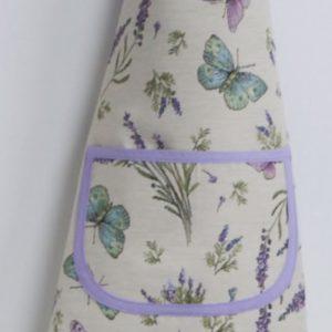 Schort- luxe gobelinstof - Seeds - Lavendel - Vlinder