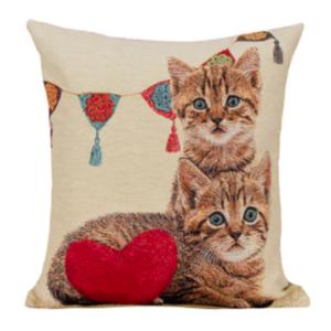 Kussenhoes Kittens met Slinger en Hart
