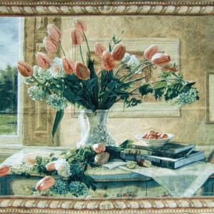 Wandkleed Tulips in a Vase – 136 cm x 98 cm