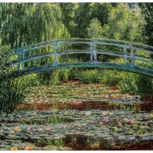 Wandkleed Japanese Bridge (Monet) 68 cm x 73 cm