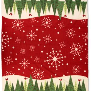 Fleece plaid - 130 x 160 cm - Trees - Kerst - wintertafereel