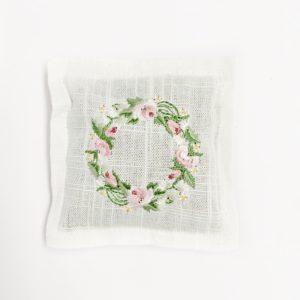 krans rose bloemen