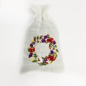 Krans met bloemen