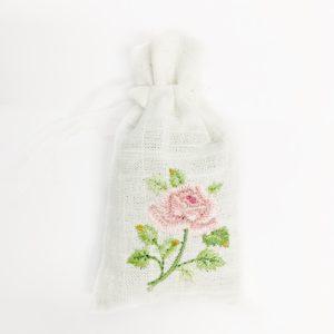 Lavendelzakje - Roze roos