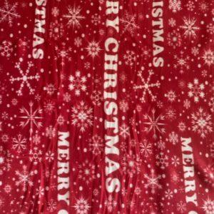 Fleece plaid - 130 x 160 cm - Merry Christmas rood