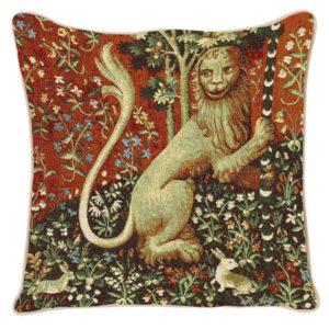 Kunst kussenhoes - Lady en Unicorn - Dame en de Eenhoorn - Lion