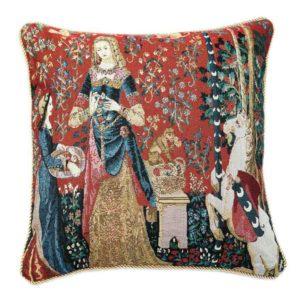 Kunst kussenhoes - Lady en Unicorn - Dame en de Eenhoorn - Sense of Smell