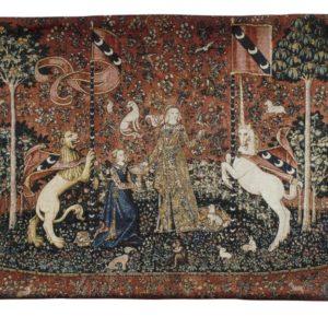 Wandkleed - Wandtapijt - Lady and the Unicorn - Dame en de Eenhoorn - Sense of Taste - 120 x 85 cm