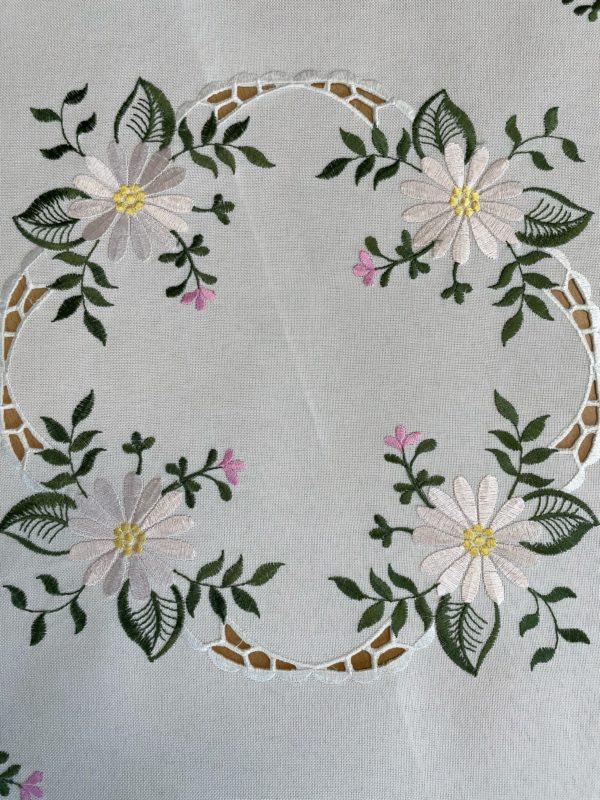 roze witte bloem