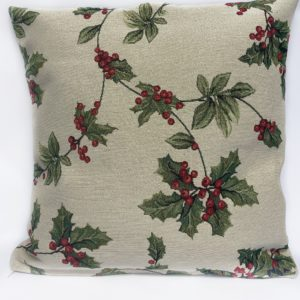 Kussenhoes – luxe gobelinstof – Mistletoe – Kerst – Hulst