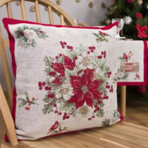 Kussenhoes - luxe gobelinstof - Kerst - Christmas Fairy - met zilverdraad