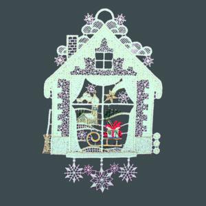 Kerst Raamdecoratie - Raamvenster met slee