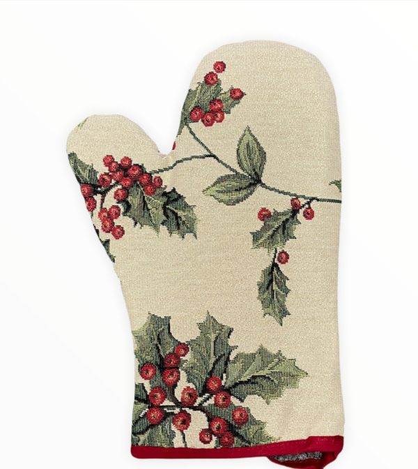 Ovenwant - Luxe gobelinstof - Mistletoe - Kerst - Hulst