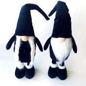 Wichtel - Kerst - Plush - Zwarte Hoed - Jongen en Meisje - staand - Set van 2 - 56 cm