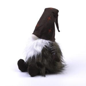 Wichtel - Kerst - Bruine hoed met rode ster - 48 cm